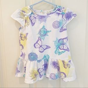 LE TOP GIRLS BUTTERFLY TOP - SIZE 4